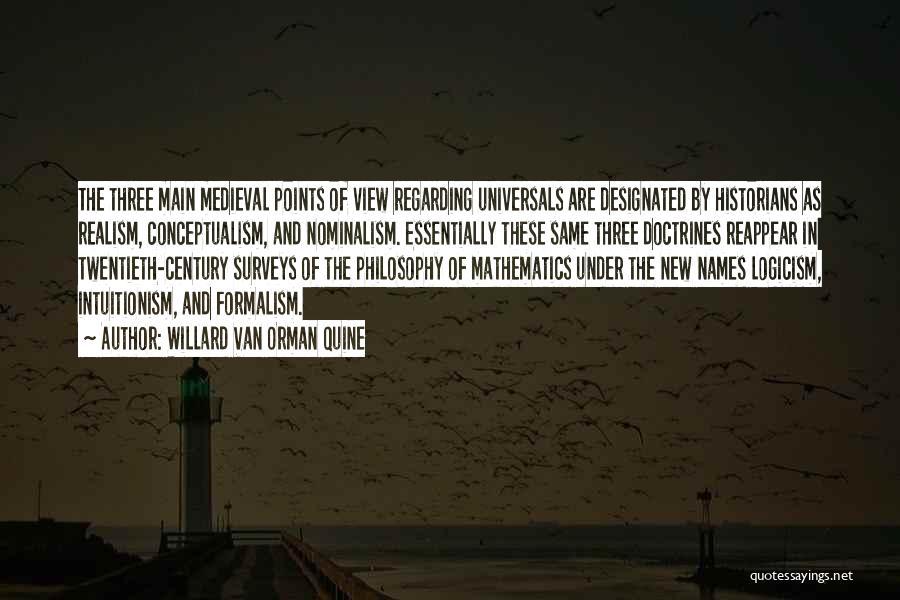 Formalism Quotes By Willard Van Orman Quine