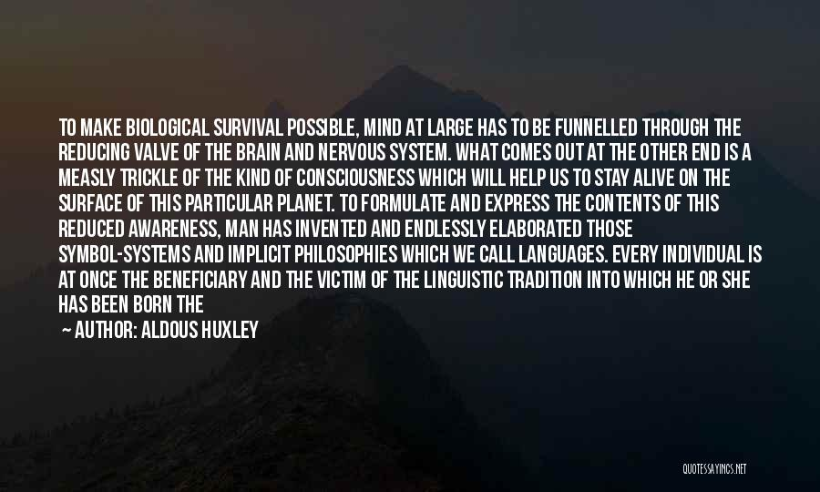 Formulate Quotes By Aldous Huxley