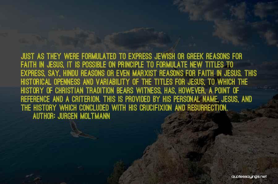 Formulate Quotes By Jurgen Moltmann