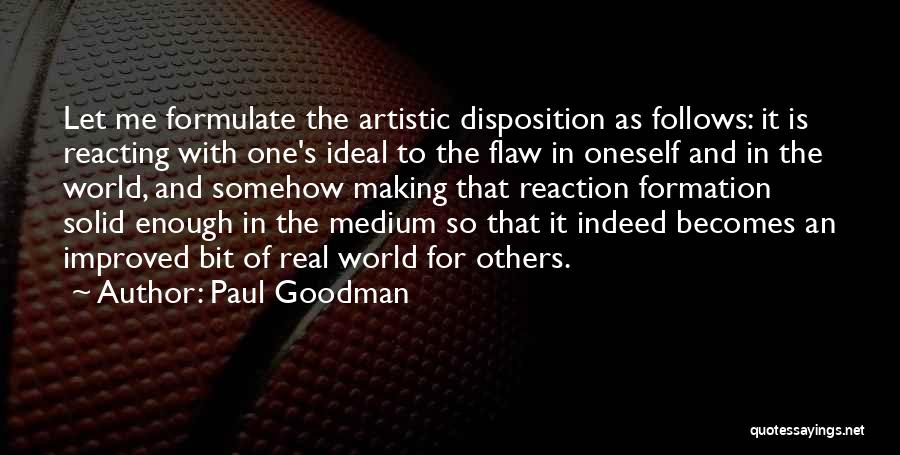 Formulate Quotes By Paul Goodman