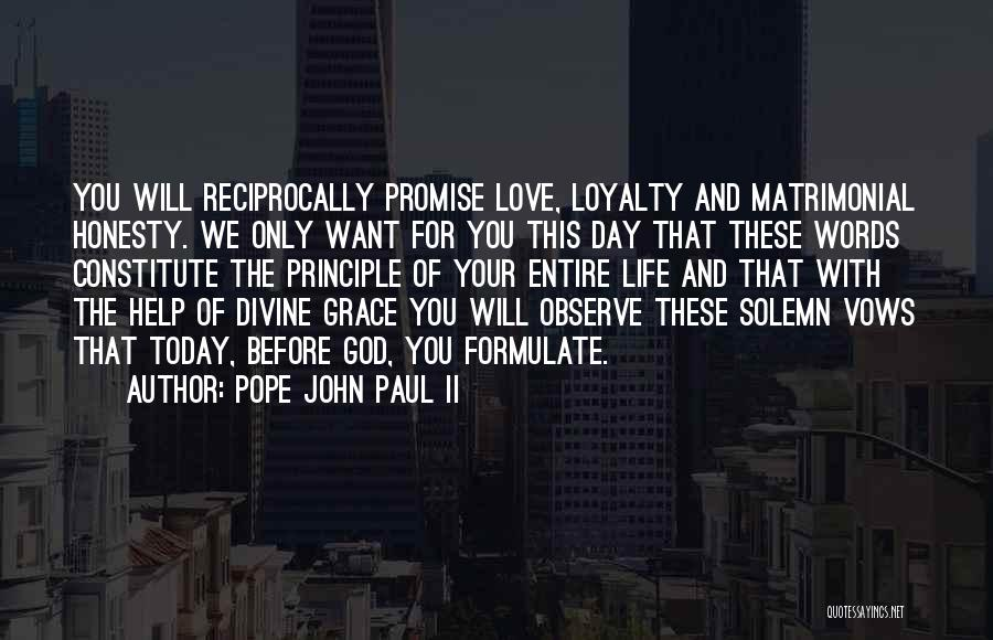 Formulate Quotes By Pope John Paul II