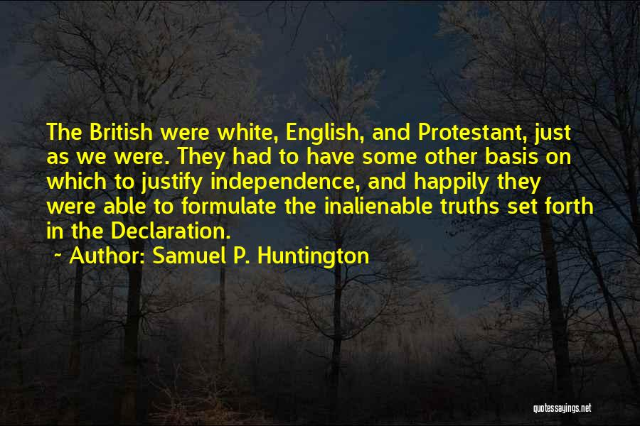 Formulate Quotes By Samuel P. Huntington