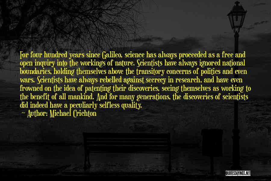 Four Generations Quotes By Michael Crichton