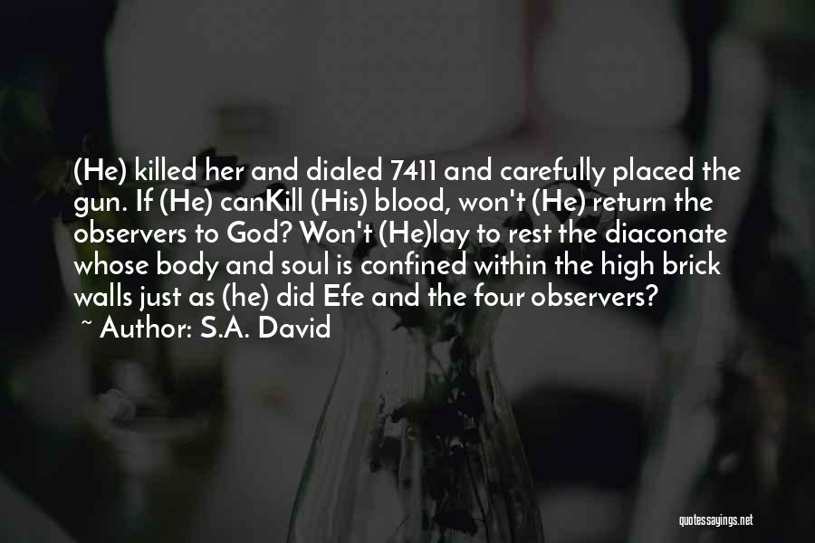 Four Walls Quotes By S.A. David