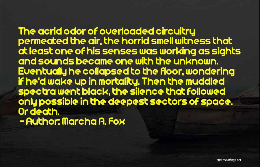 Fox Quotes By Marcha A. Fox