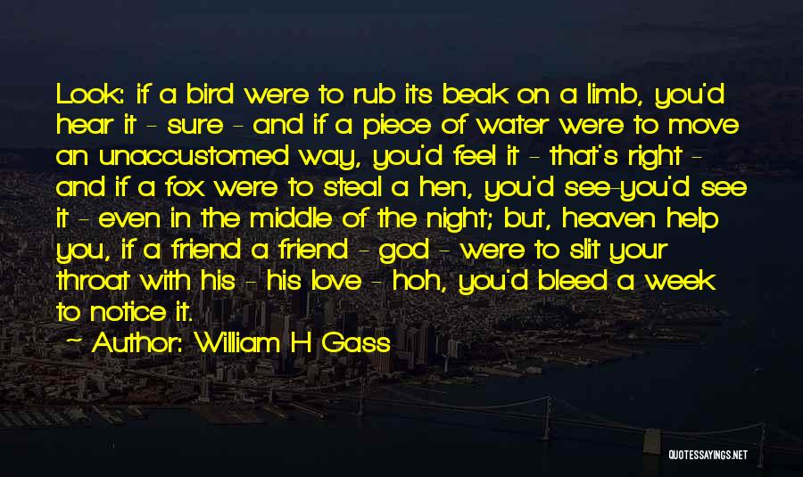Fox Quotes By William H Gass