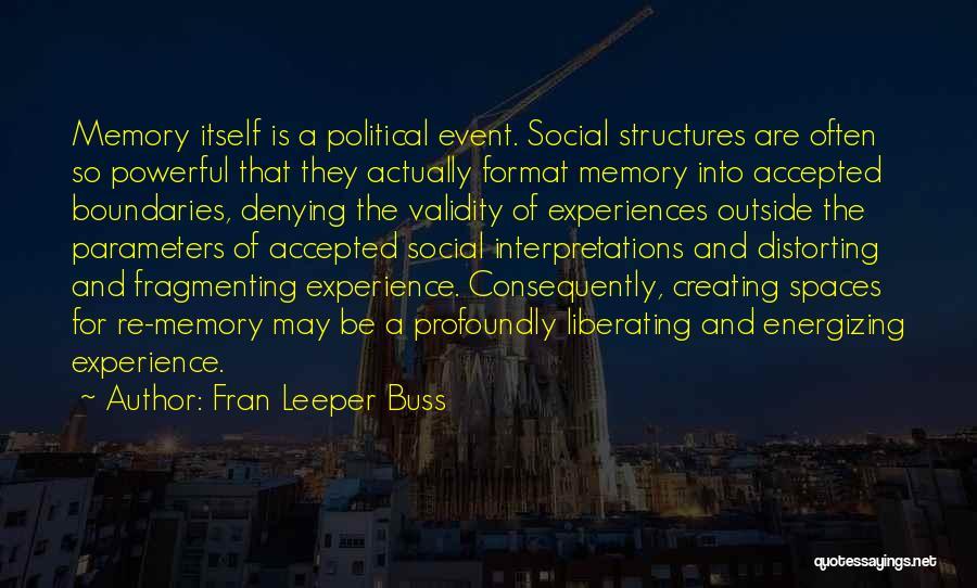Fran Leeper Buss Quotes 1417933