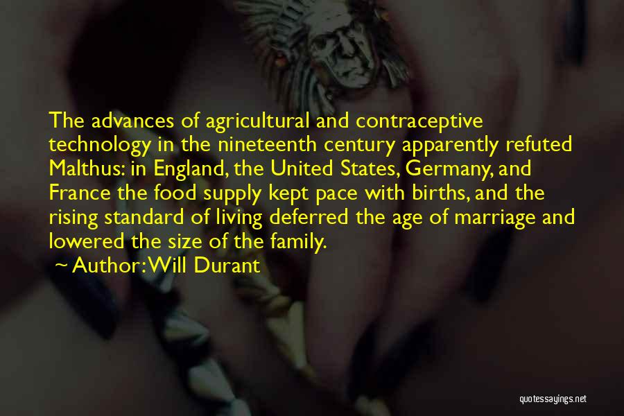 France And Food Quotes By Will Durant