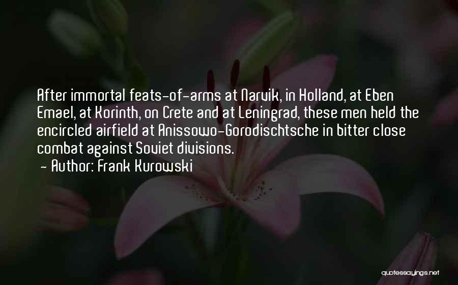 Frank Kurowski Quotes 1667746