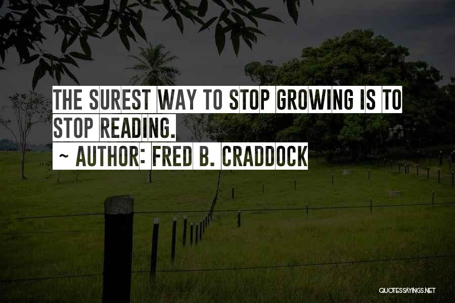 Fred B. Craddock Quotes 674085