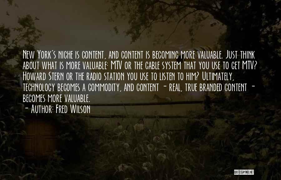 Fred Wilson Quotes 544055