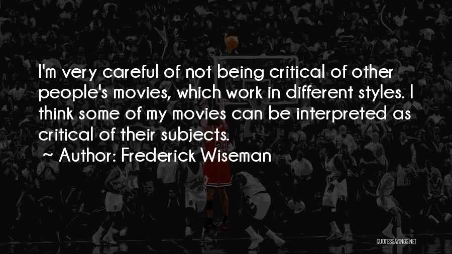Frederick Wiseman Quotes 1643161