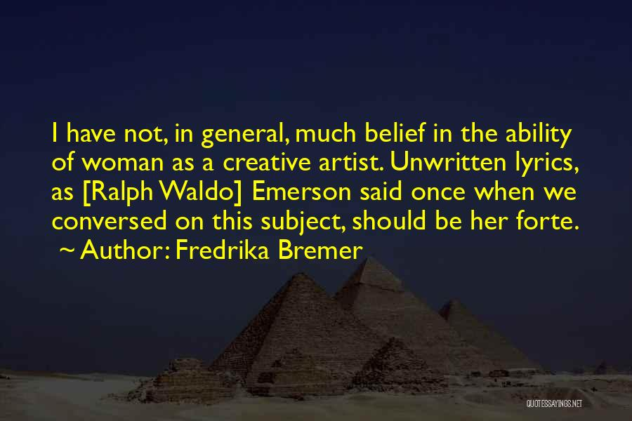 Fredrika Bremer Quotes 882441