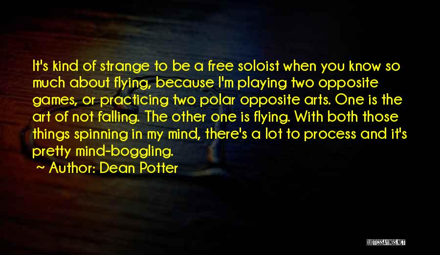 Free Flying Quotes By Dean Potter