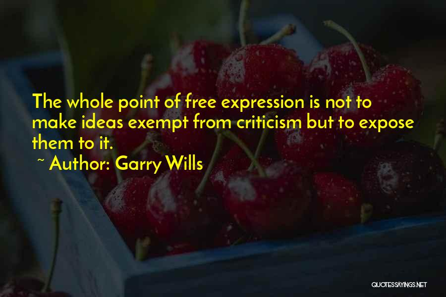 Free From Quotes By Garry Wills