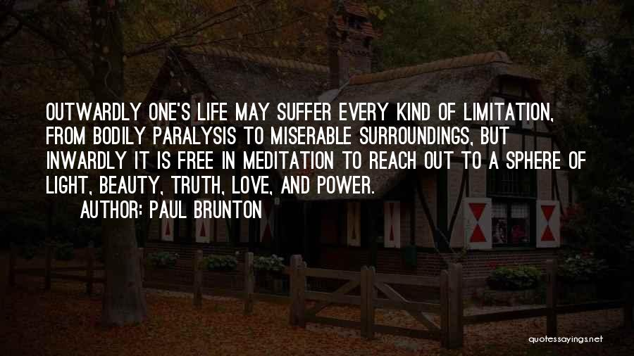 Free From Quotes By Paul Brunton