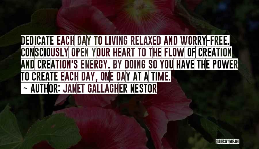 Free From Stress Quotes By Janet Gallagher Nestor