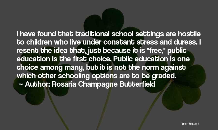 Free From Stress Quotes By Rosaria Champagne Butterfield