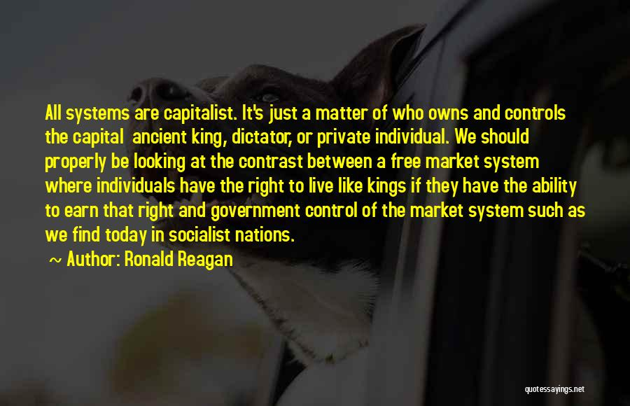 Free Market Quotes By Ronald Reagan