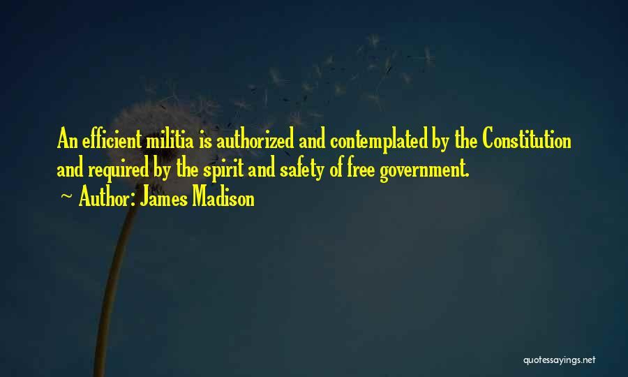 Free Spirit Quotes By James Madison