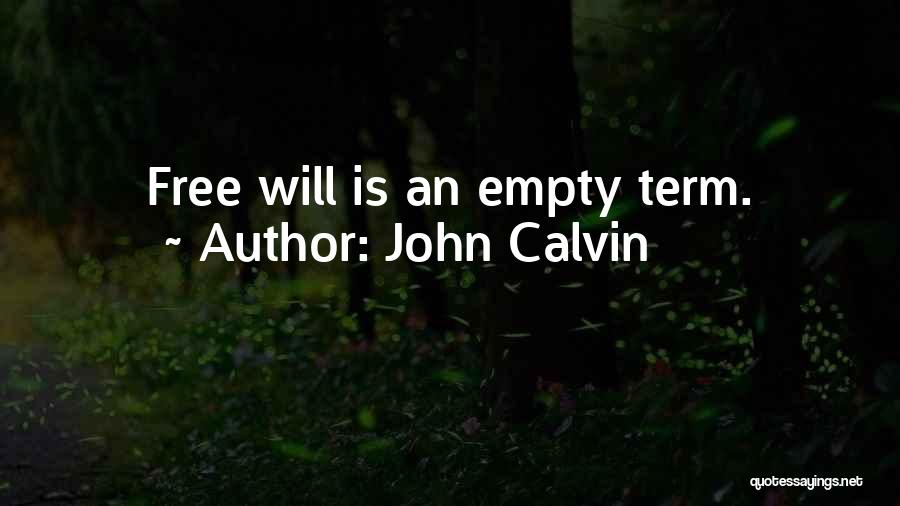 Free Term Quotes By John Calvin