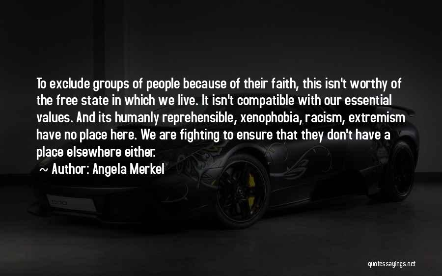 Free To Live Quotes By Angela Merkel