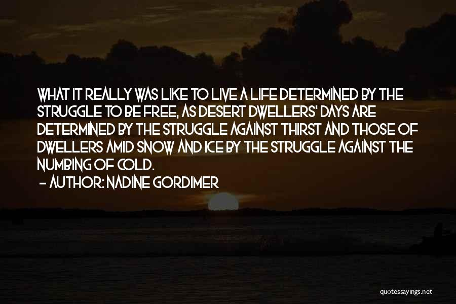 Free To Live Quotes By Nadine Gordimer