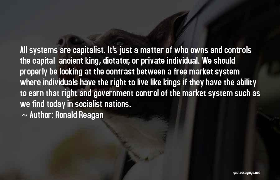 Free To Live Quotes By Ronald Reagan