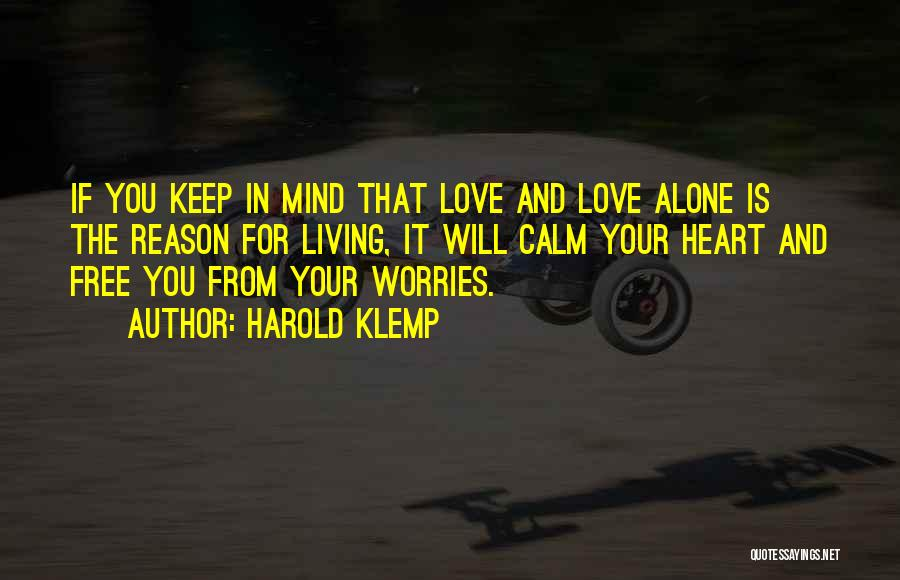 Free Your Mind From Worries Quotes By Harold Klemp