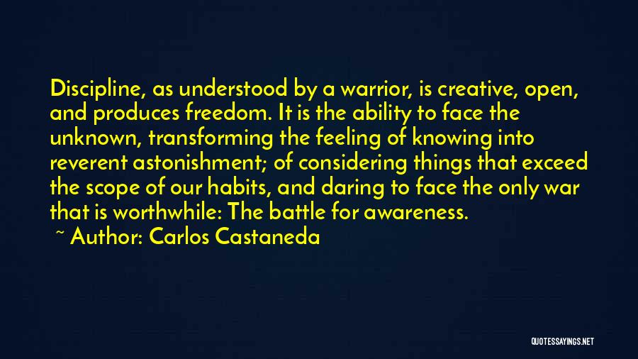 Freedom And Discipline Quotes By Carlos Castaneda