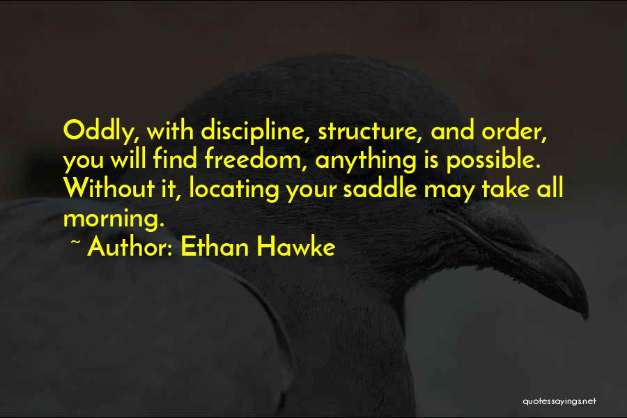 Freedom And Discipline Quotes By Ethan Hawke