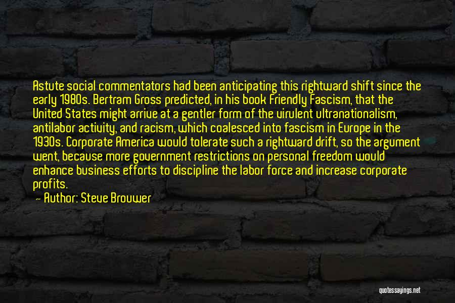 Freedom And Discipline Quotes By Steve Brouwer