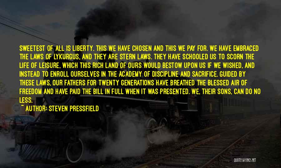 Freedom And Discipline Quotes By Steven Pressfield