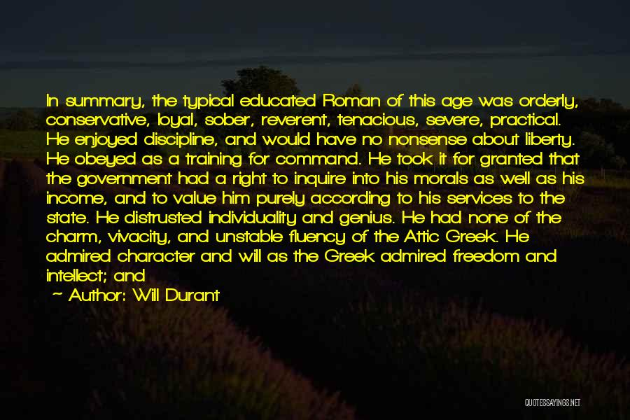 Freedom And Discipline Quotes By Will Durant