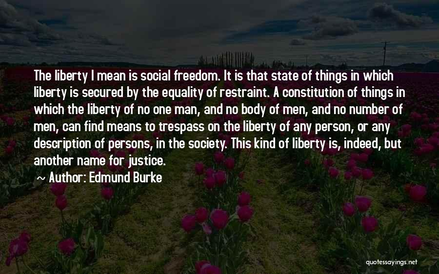 Freedom Of Equality Quotes By Edmund Burke