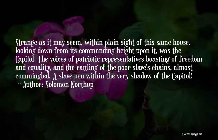 Freedom Of Equality Quotes By Solomon Northup