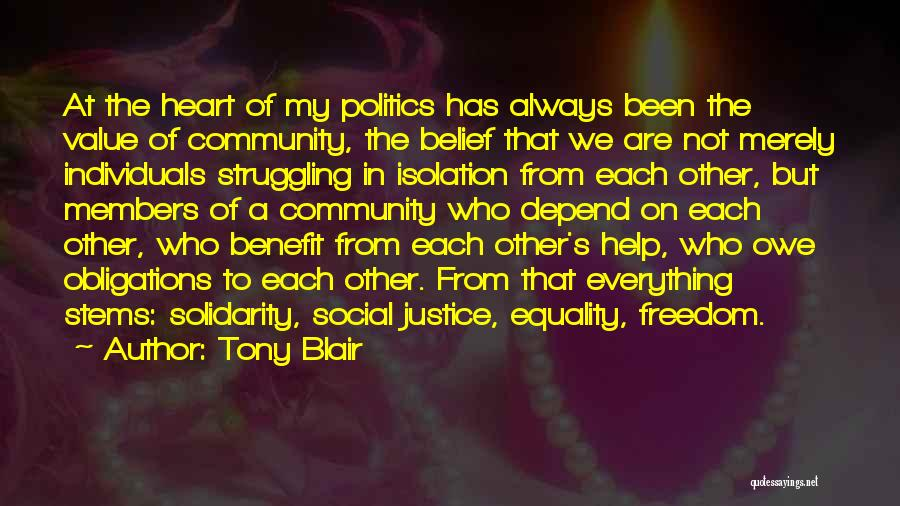 Freedom Of Equality Quotes By Tony Blair