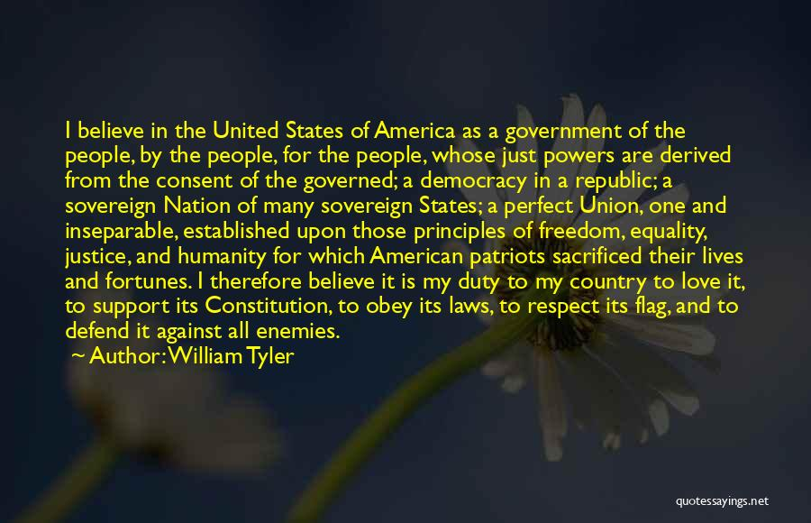Freedom Of Equality Quotes By William Tyler