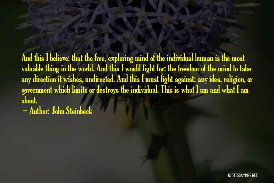 Freedom Of Religion Quotes By John Steinbeck