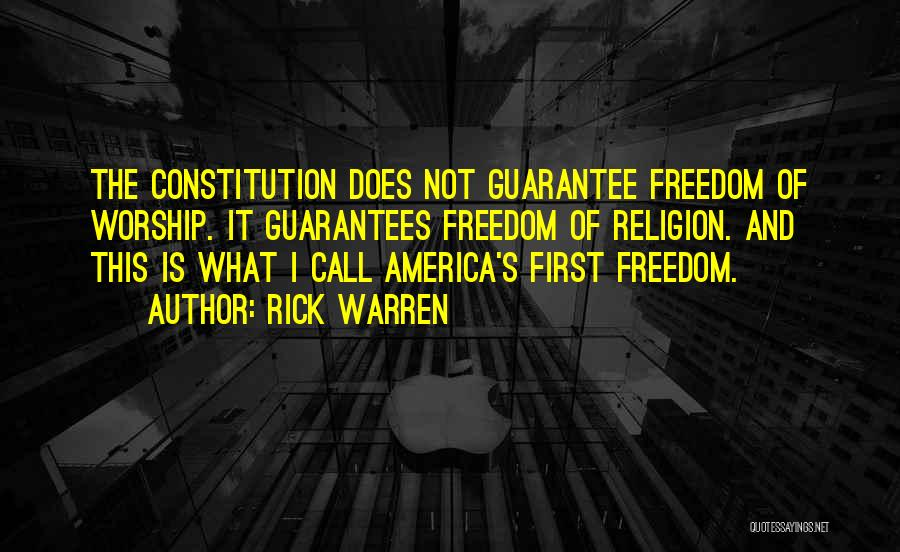 Freedom Of Religion Quotes By Rick Warren