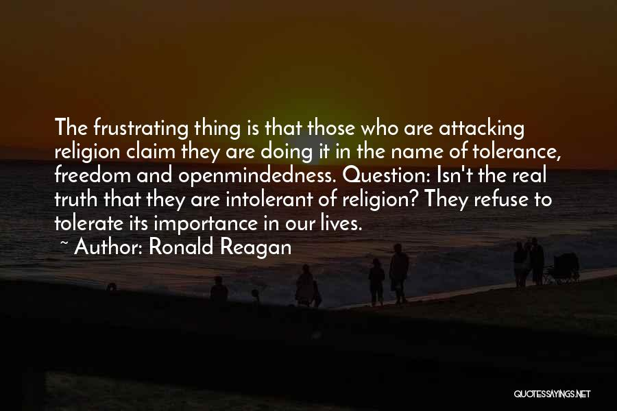 Freedom Of Religion Quotes By Ronald Reagan