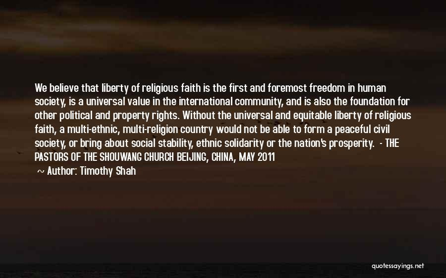Freedom Of Religion Quotes By Timothy Shah