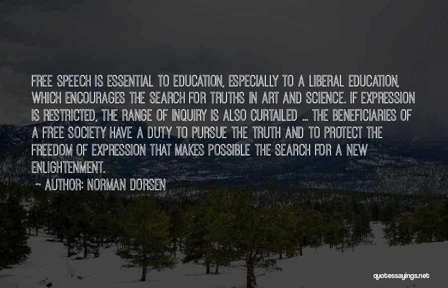 Freedom Of Speech And Expression Quotes By Norman Dorsen