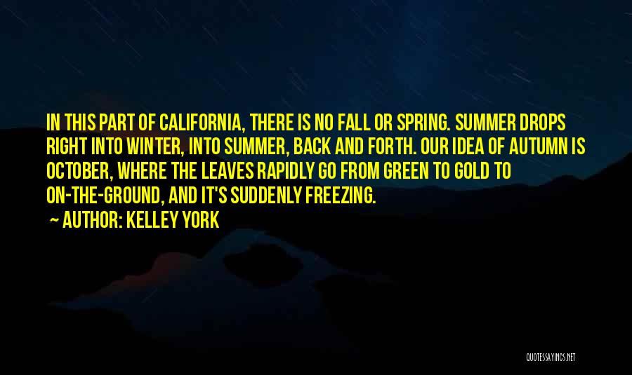 Freezing Quotes By Kelley York