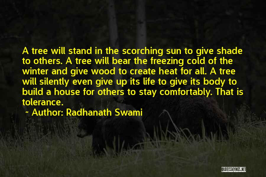 Freezing Quotes By Radhanath Swami
