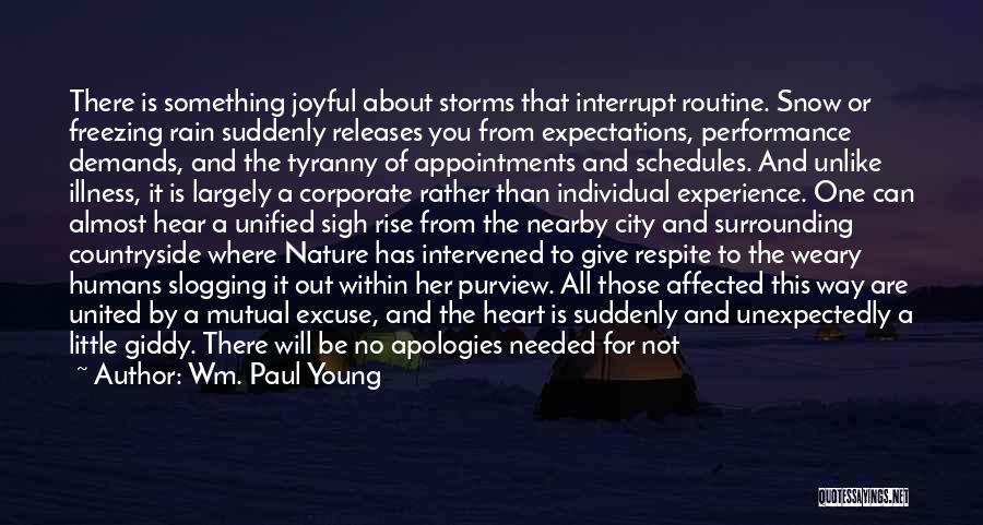 Freezing Quotes By Wm. Paul Young