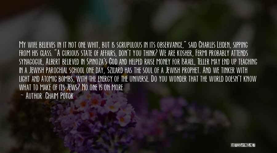 Frenetic Quotes By Chaim Potok