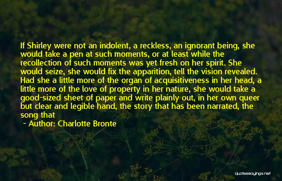 Fresh Love Quotes By Charlotte Bronte