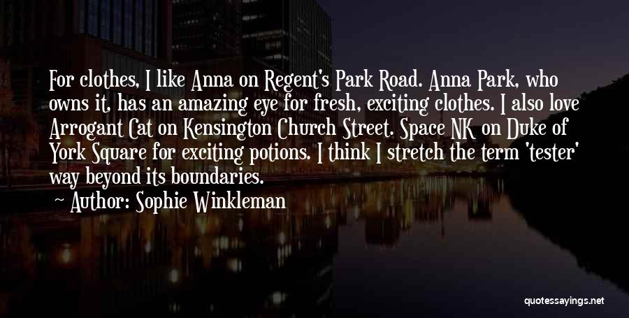Fresh Love Quotes By Sophie Winkleman