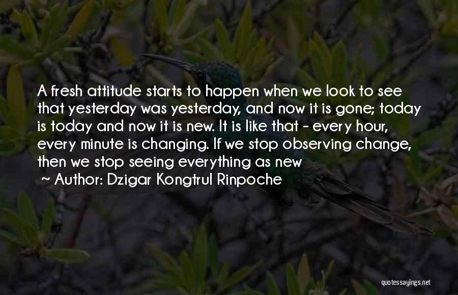Fresh Starts Quotes By Dzigar Kongtrul Rinpoche